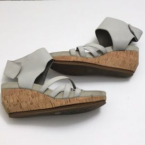 Eileen Fisher Leather sandals velcro platform